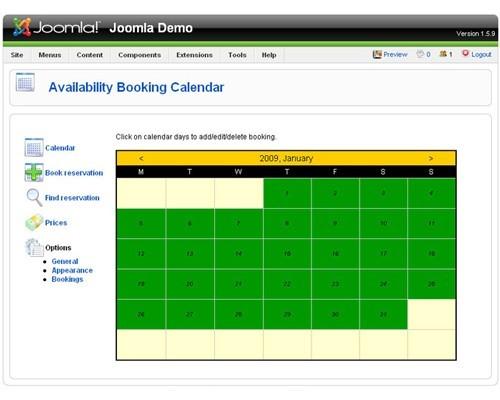 time slot booking joomla