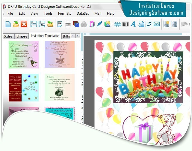 40th birthday ideas birthday invitation maker software free download more software from author of designing software for birthday cards stopboris Image collections