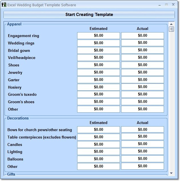 excel wedding budget template software free download and review. Black Bedroom Furniture Sets. Home Design Ideas
