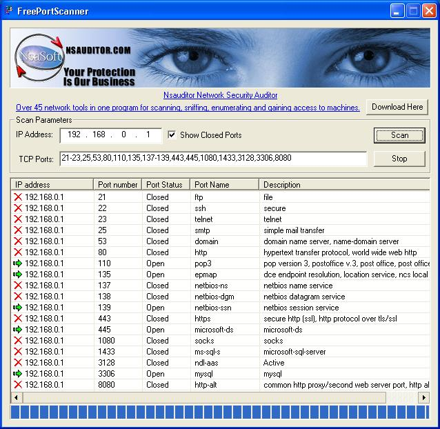 Network Port Scanner Software Free