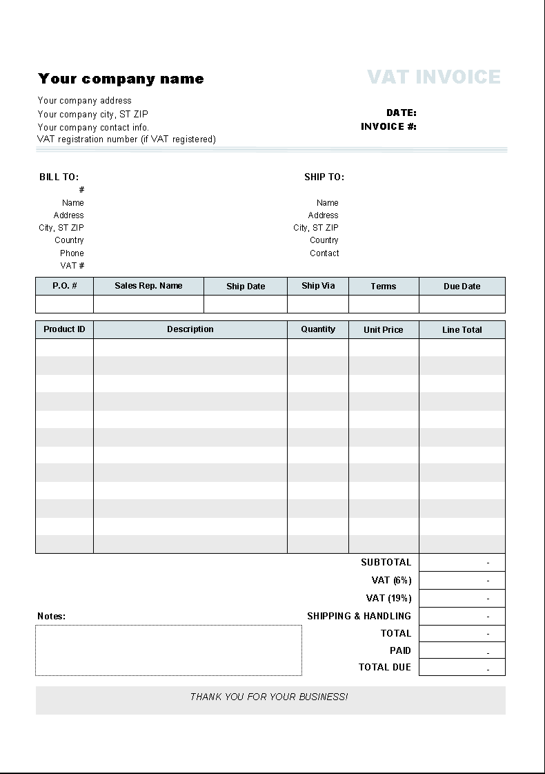 Free Contractor Invoice Template Pdf - Free invoice templete for service business