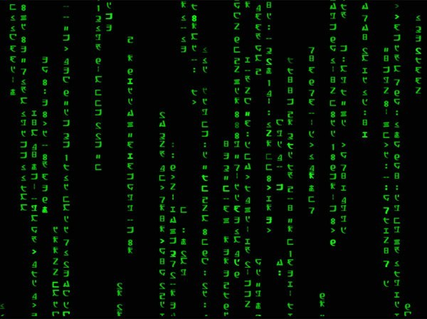 Screenshot of matrix code animated wallpaper 1 1 0
