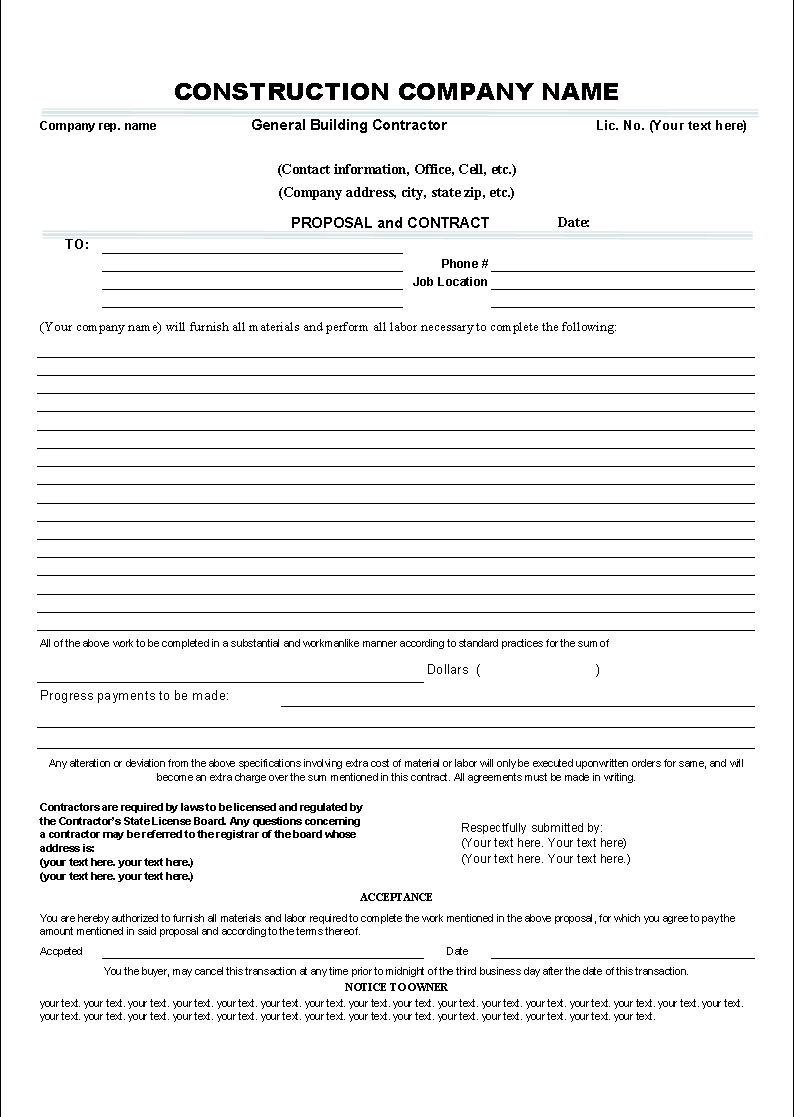 Business Contract Example plumbing invoice template – Example of Business Contract