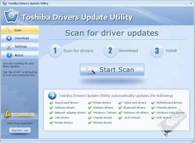 toshiba wallpaper. Screenshot of Toshiba Drivers