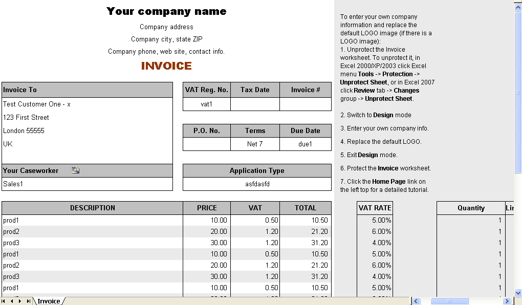 accounting services invoice template
