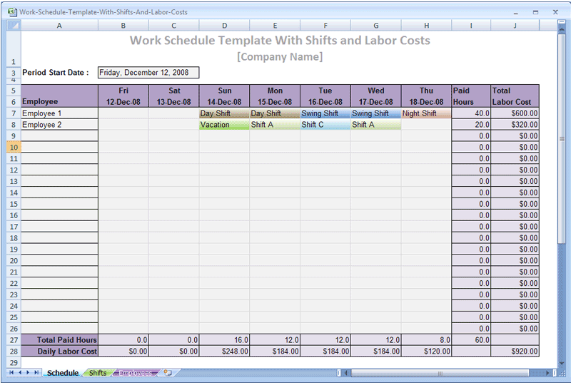 free project schedule template .