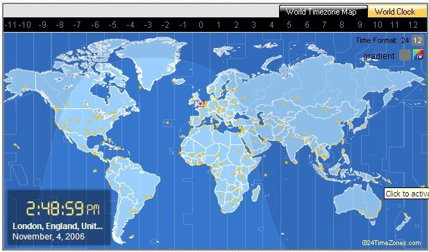 time zone map world. World Time Clock amp; Map 2.0
